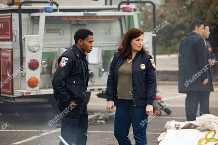 Robert Bailey Jr as Officer Chris Minetto and Allison Tolman as Jo Evans