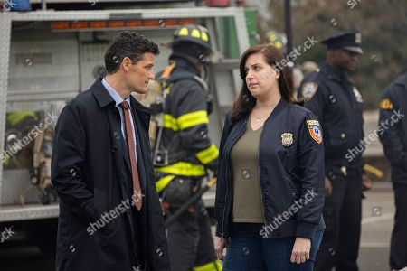 Enver Gjokaj as Agent Ryan Brooks and Allison Tolman as Jo Evans