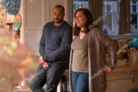 Donald Faison as Alex Evans and Allison Tolman as Jo Evans