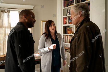 Donald Faison as Alex Evans, Allison Tolman as Jo Evans and Clancy Brown as Ed Sawyer