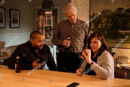 Donald Faison as Alex Evans, Clancy Brown as Ed Sawyer and Allison Tolman as Jo Evans