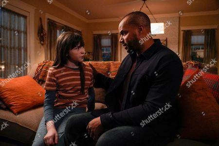 Alexa Swinton as Piper and Donald Faison as Alex Evans