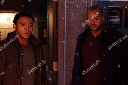 Robert Bailey Jr as Officer Chris Minetto and Donald Faison as Alex Evans