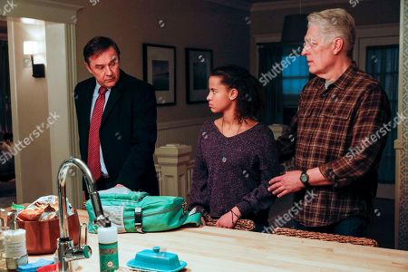 Currie Graham as Michael Denman, Ashley Aufderheide as Mia Evans and Clancy Brown as Ed Sawyer