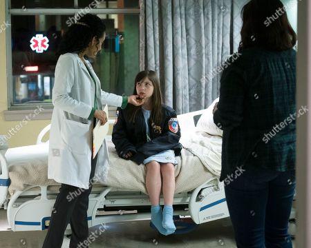 Zabryna Guevara as Abby Fraiser, Alexa Swinton as Piper and Allison Tolman as Jo Evans