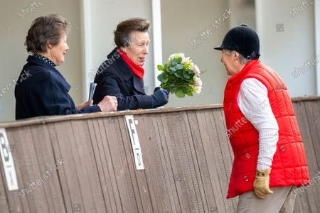 Her Royal Highness Princess Anne chats with Jennie Loriston-Clarke MBE whilst attending the British Horse Society National Coaching Convention at Addington Equestrian Centre, Buckinghamshire, United Kingdom - 16 March 2020