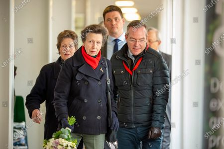 Her Royal Highness Princess Anne is accompanied by Mr James Hick, BHS Chief Executive, at the British Horse Society National Coaching Convention at Addington Equestrian Centre, Buckinghamshire, United Kingdom - 16 March 2020