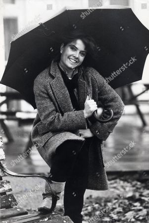 Charlotte Attenborough Actress Holding A Umbrella.. Original Library Print Filed In Packet: Charlotte Attenborough