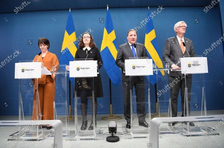 Editorial picture of Swedish government announces measures against coronavirus pandemic, Stockholm, Sweden - 17 Mar 2020