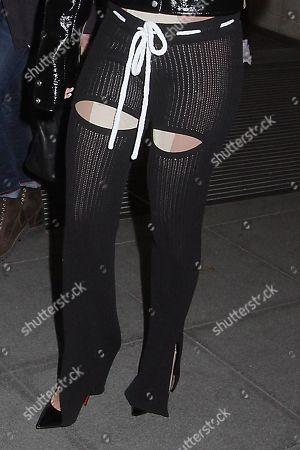 Rita Ora at BBC Radio 2, trouser detail