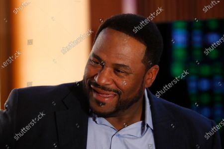 Former Pittsburgh Steelers running back Jerome Bettis smiles during the launch of legalized sports betting in Michigan at the MGM Grand Detroit casino in Detroit
