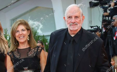 """Brian De Palma, right, and Susan Lehman arrive at the premiere of """"Marriage Story"""" during the 76th Venice Film Festival in Venice, Italy. De Palma makes his fiction writing debut with """"Why Are Snakes Necessary?"""" a crime thriller he penned with his partner, Lehman. The book was released Tuesday by Hard Case Crime"""