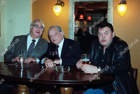 Stock Image of Roy Hudd, as Charlie, David Jason as Dave, and Hywel Bennett, as Ronno.