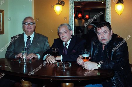 Stock Photo of Roy Hudd, as Charlie, David Jason as Dave, and Hywel Bennett, as Ronno.