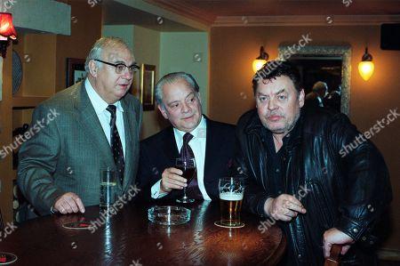 Roy Hudd, as Charlie, David Jason as Dave, and Hywel Bennett, as Ronno.