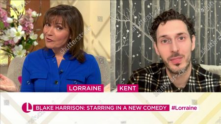 Stock Picture of Lorraine Kelly and Blake Harrison