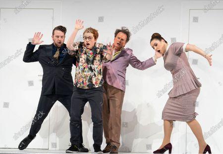 Johnathan McCullough as Count Almaviva, Hanna Hipp as Cherubino, Colin Judson as Don Basilio, Louise Alder as Susanna,