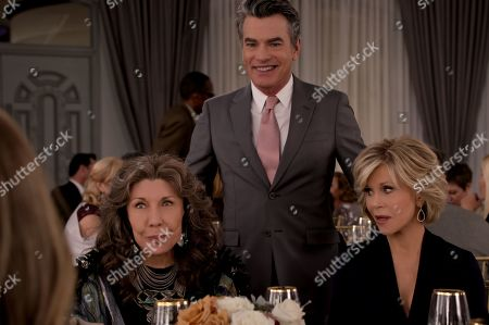 Lily Tomlin as Frankie Bergstein, Peter Gallagher as Nick and Jane Fonda as Grace Hanson