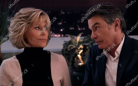 Stock Image of Jane Fonda as Grace Hanson and Peter Gallagher as Nick