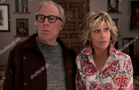 Stock Picture of Michael McKean as Jack and Jane Fonda as Grace Hanson