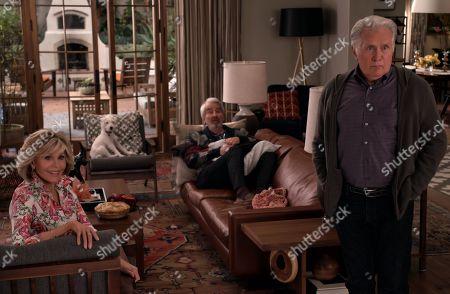 Jane Fonda as Grace Hanson, Sam Waterston as Sol Bergstein and Martin Sheen as Robert Hanson