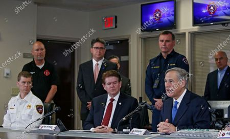 Editorial picture of Texas Governor Greg Abbott holds a press conference in Arlington, Texas, USA - 18 Mar 2020