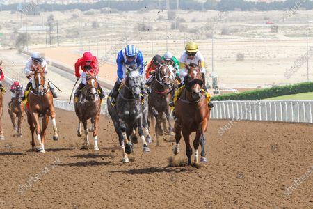 MAJESTIC THUNDER (IRE) ridden by Tadhg O'Shea wins the 6F Shadwell Handicap at Jebel Ali, Dubai, UAE