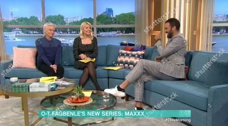 Phillip Schofield, Holly Willoughby, O T Fagbenle