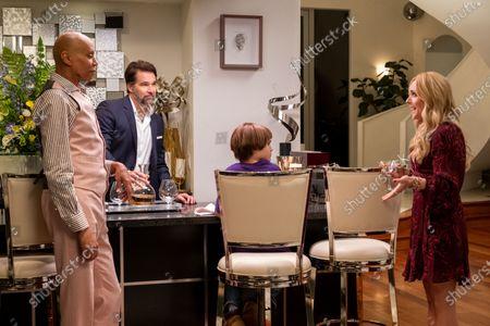 Stock Picture of RuPaul as Robert Lee/Ruby Red, Robb Derringer as Chad Beagle, Izzy G as AJ Douglas and Jane Krakowski as Beth Barnes Beagle