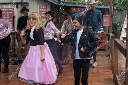 Armen Nahapetian as Brick, Natasha Leggero as Kath, Izzy G as AJ Douglas and RuPaul as Robert Lee/Ruby Red