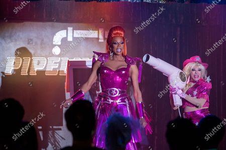 RuPaul as Robert Lee/Ruby Red and Mario Cantone as Alma Joy
