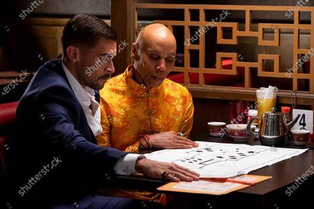 Stock Image of Josh Segarra as Damien Sanchez and RuPaul as Robert Lee/Ruby Red