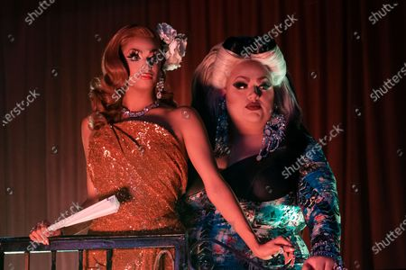 Stock Image of James Leyva as Valentina and David Huggard as Eureka O'Hara