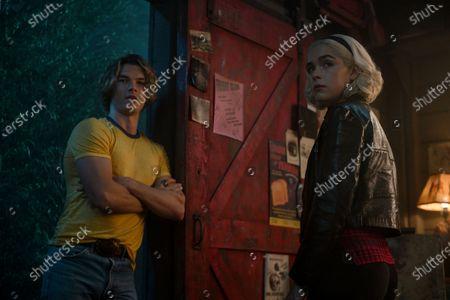 Sam Corlett as Caliban and Kiernan Shipka as Sabrina Spellman