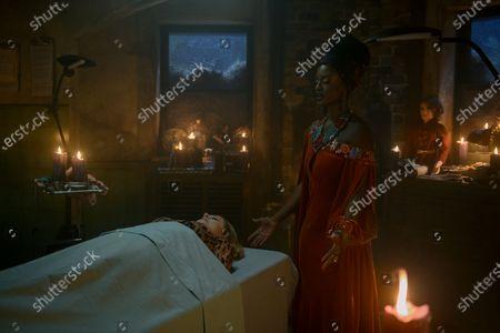 Miranda Otto as Zelda Spellman and Skye P. Marshall as Mambo Marie