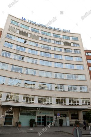 An exterior view of the Jimenez Diaz Hospital in Madrid, Spain, 19 March 2020, where allegedly former Madrid Regional President Esperanza Aguirre and husband Fernando Ramirez have checked in for coronavirus.