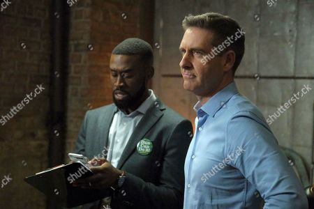 Stock Picture of Tosin Morohunfola as Anthony and Paul Fitzgerald as Dan Gibson