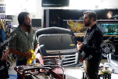 Douglas Bennett as Zev and Jake Johnson as Grey McConnell
