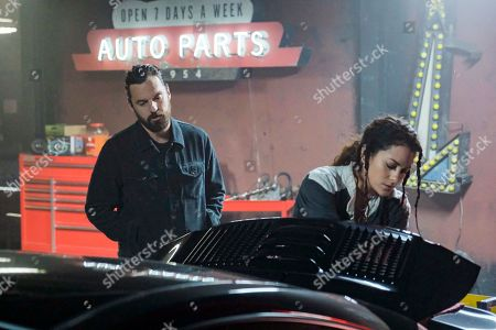 Jake Johnson as Grey McConnell and Inbar Lavi as Max