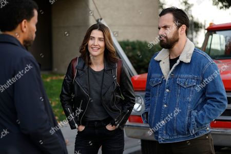 Cobie Smulders as Dex Parios and Jake Johnson as Grey McConnell