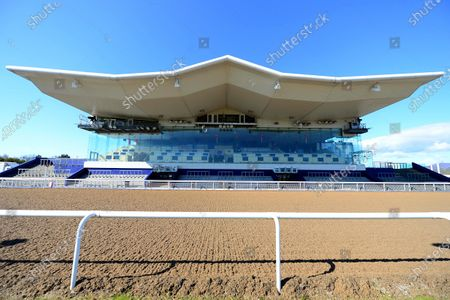 DUNDALK. The scene at the County Louth all weather venue ahead of today's race meeting behind closed doors because of Coronavirus.