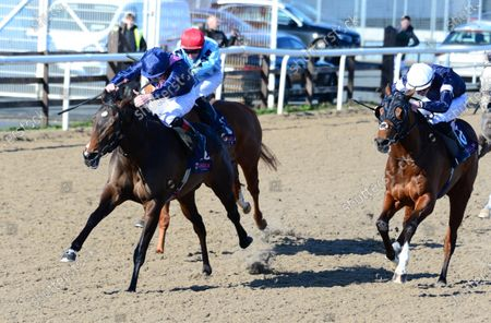 DUNDALK. JULIET ROSE and Declan McDonogh (left) win for trainer Joseph O'Brien from DUTCH ADMIRAL.
