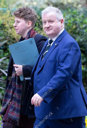 Ian Blackford, Leader of the Scottish National Partyin the House of Commons, in Downing Street
