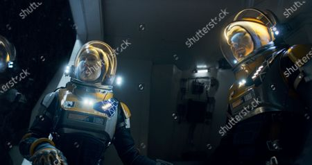 Molly Parker as Maureen Robinson and Toby Stephens as John Robinson