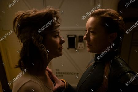 Parker Posey as June Harris/Dr. Smith and Molly Parker as Maureen Robinson