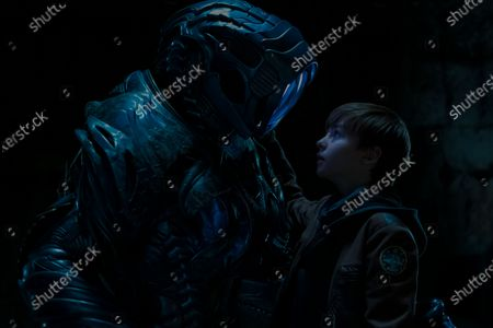 Brian Steele as The Robot and Maxwell Jenkins as Will Robinson