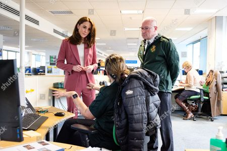 Editorial picture of British Royals visit a Ambulance Service 111 control room, London, UK - 19 Mar 2020