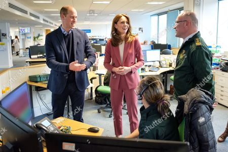 Editorial photo of British Royals visit a Ambulance Service 111 control room, London, UK - 19 Mar 2020