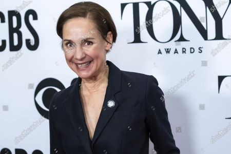 """Laurie Metcalf participates in the 73rd annual Tony Awards """"Meet the Nominees"""" press day at the Sofitel New York. A revival of Edward Albee's """"Who's Afraid of Virginia Woolf?"""" will not reopen when Broadway resumes performances, a second play to call it quits as the theater world grapples with the fallout over the coronavirus. Metcalf starred as Martha and Rupert Everett as George. It managed just nine previews before Broadway was shuttered on March 12, 2020"""