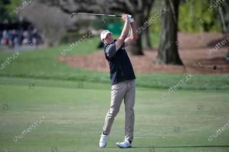 Steve Stricker watches after hitting from the first fairway during the final round of the Arnold Palmer Invitational golf tournament, in Orlando, Fla